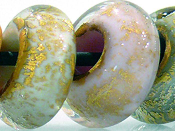 Sammelperlen Pastell mit Goldfolie